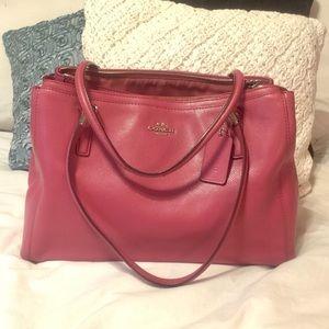 COACH Handbag in Vibrant Pink